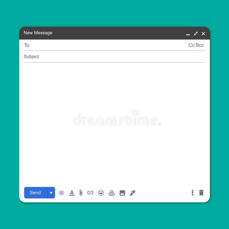 Free Blank Window Of Email Royalty Free Stock Images - 217956959