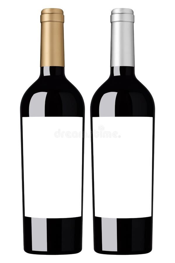 Blank wine bottle stock photos
