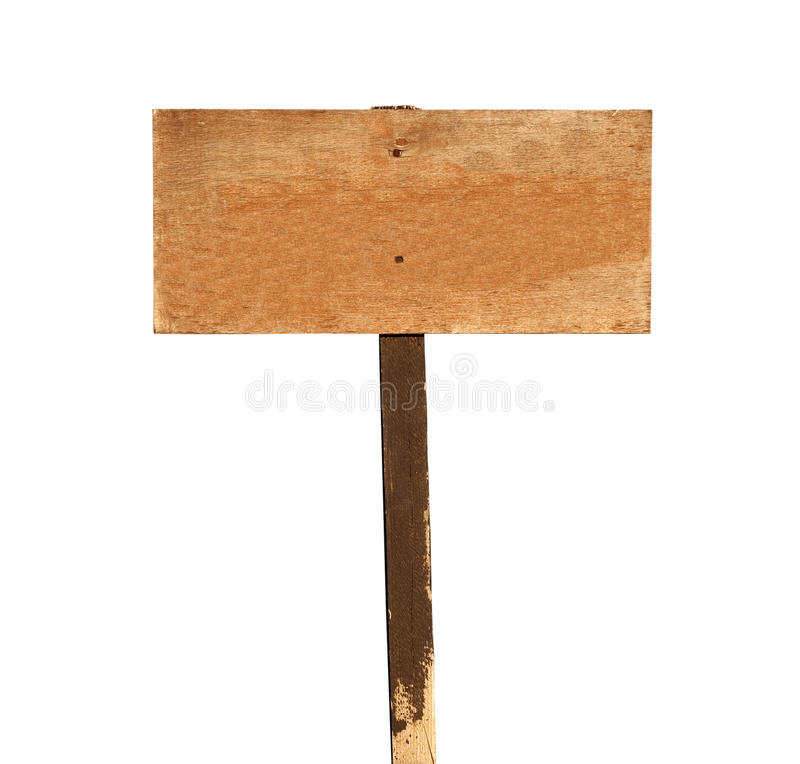 Blank Wood Sign stock photo