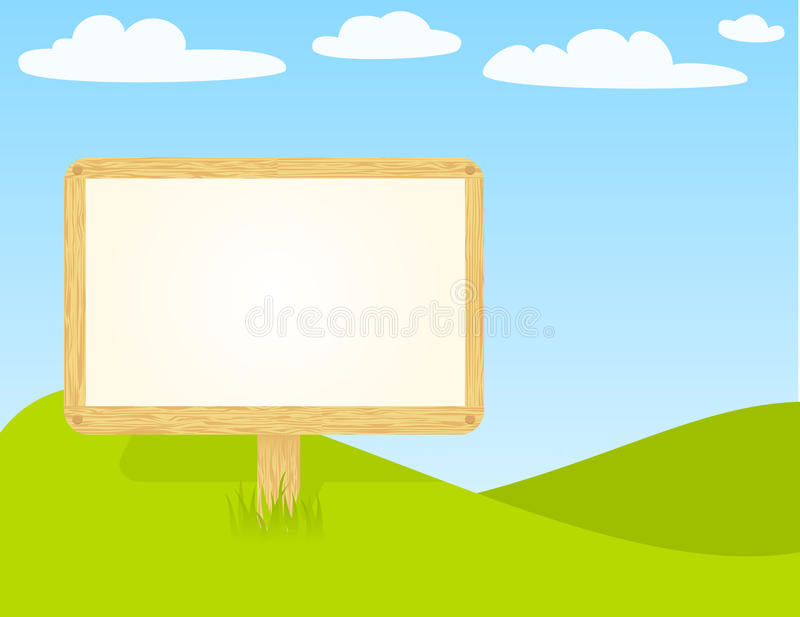 Download Blank wooden billboard stock vector. Image of background - 21356668