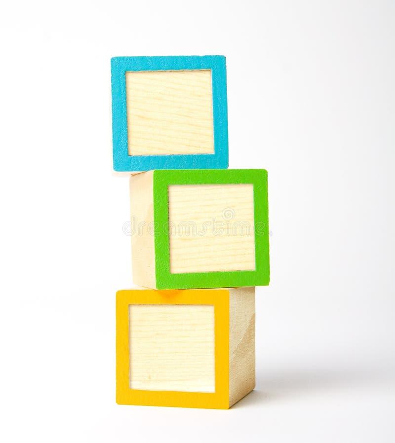 Blank wooden blocks royalty free stock photos