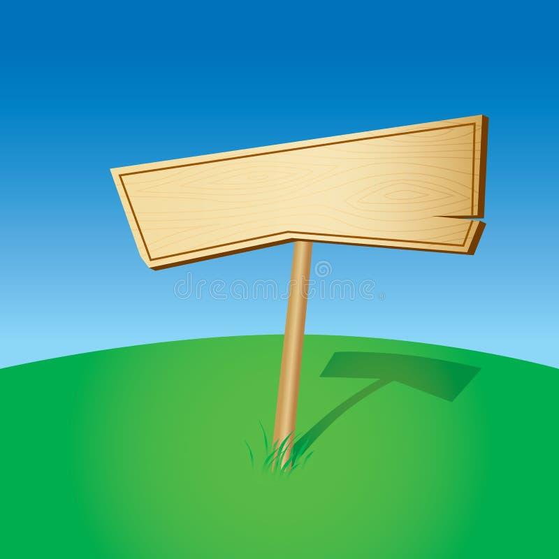 Blank Wooden Sign vector illustration