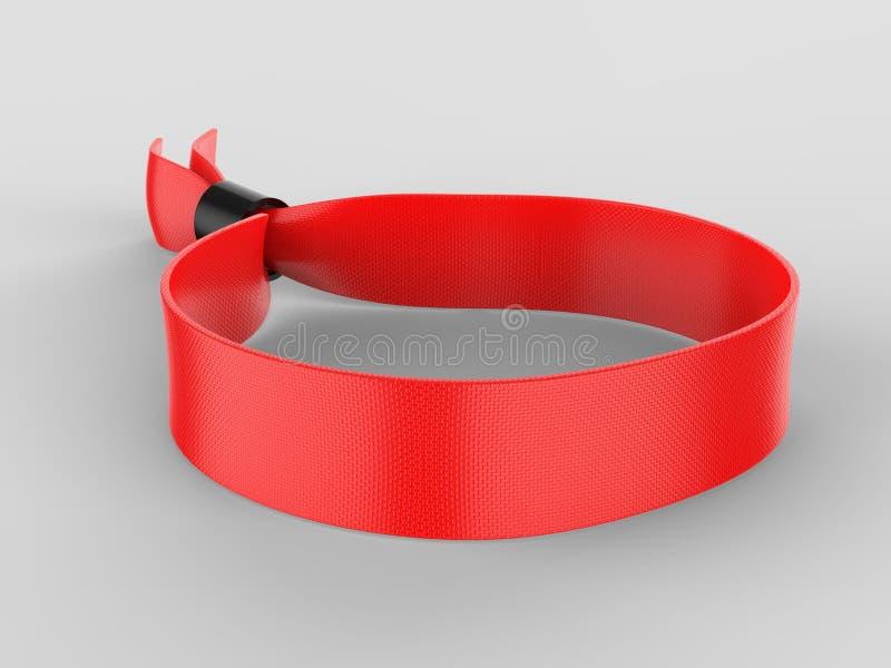 Blank Wristband USB Flash Drive Promotional USB. 3d render illustration. Blank Wristband USB Flash Drive Promotional USB. 3d illustration stock photos