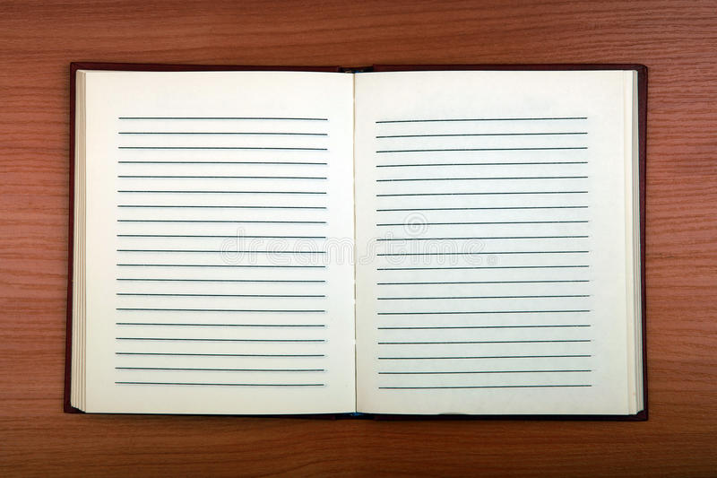 Blank Writing Pad royalty free stock photography