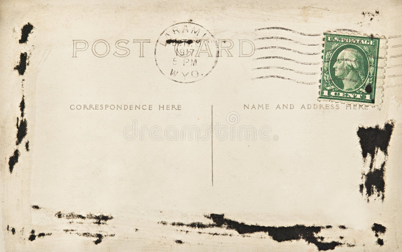 Blank Wyoming Post Card