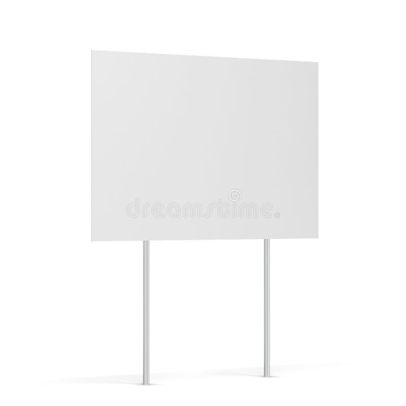 Blank yard sign. 3d illustration isolated on white background stock illustration