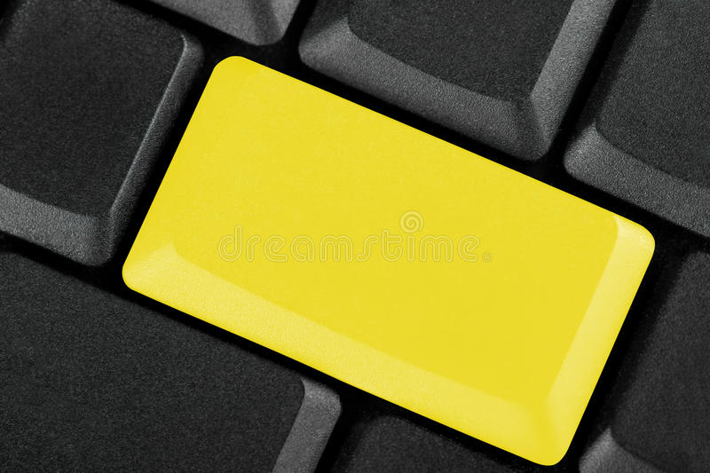 Blank Yellow Button Royalty Free Stock Photography