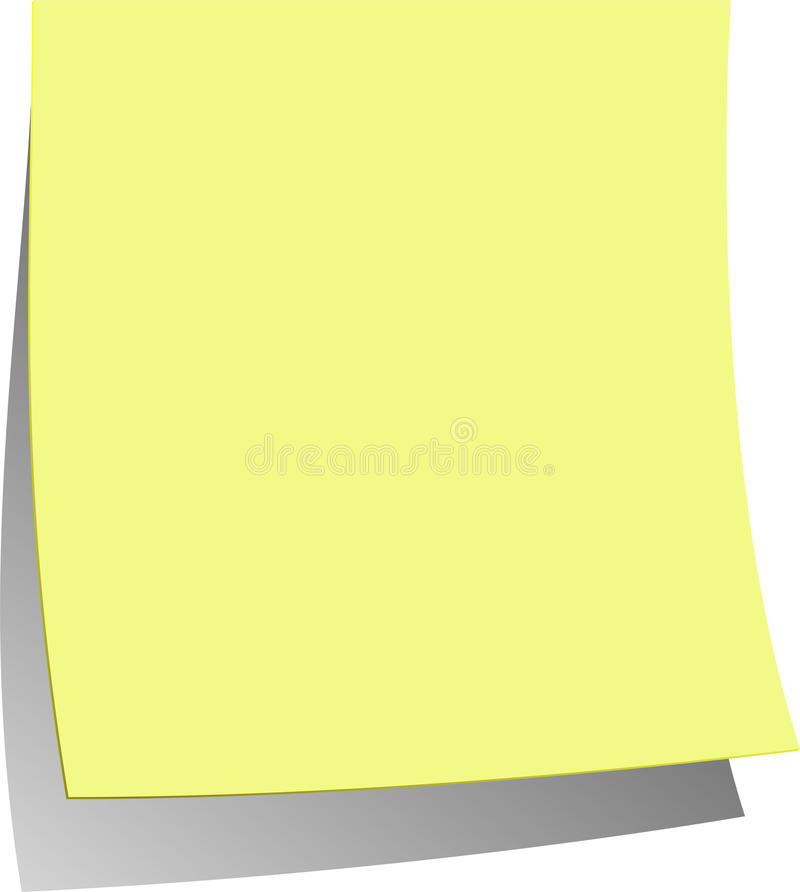 Free Blank Yellow Note Royalty Free Stock Images - 9452799