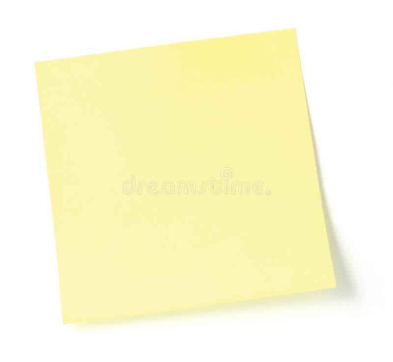 Blank Yellow Post-It List stock photo