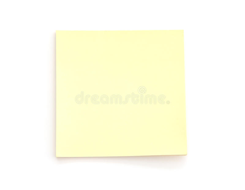 Blank Yellow Post-it Note stock photos