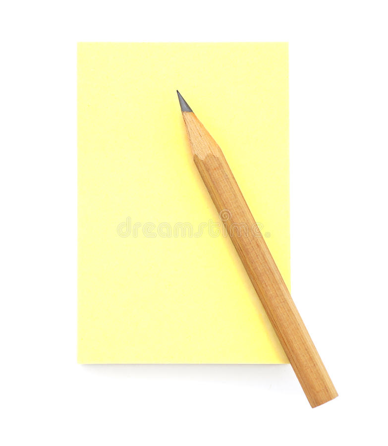 Blank Yellow Post-it Note stock photo