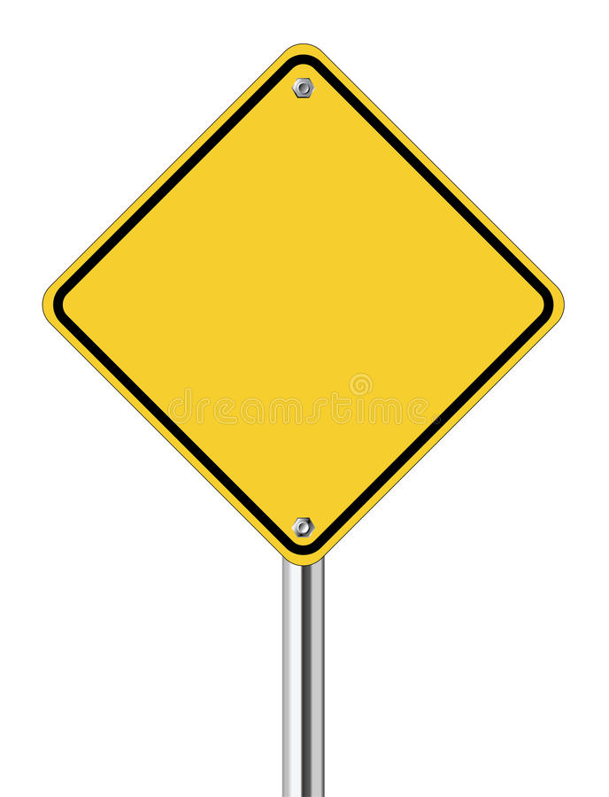 Download Blank yellow road sign stock vector. Image of drawing - 24788473