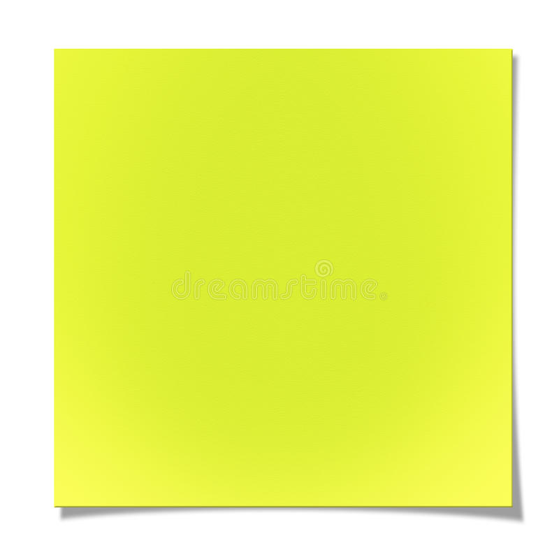 Download Blank Yellow Sticky Note Royalty Free Stock Photography - Image: 28619657
