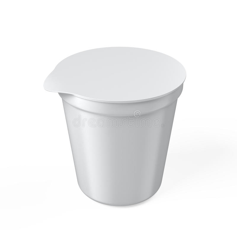 Blank yogurt cup vector illustration