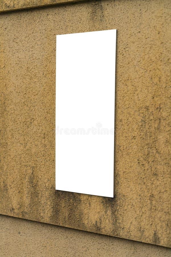 blank znak do ściany zdjęcie royalty free