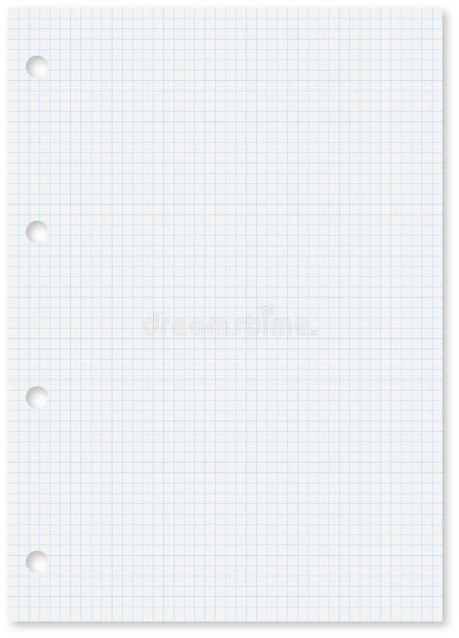 blanka blålinjen sheet kvadrerad white vektor illustrationer