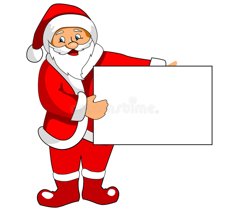 blanka claus paper santa stock illustrationer