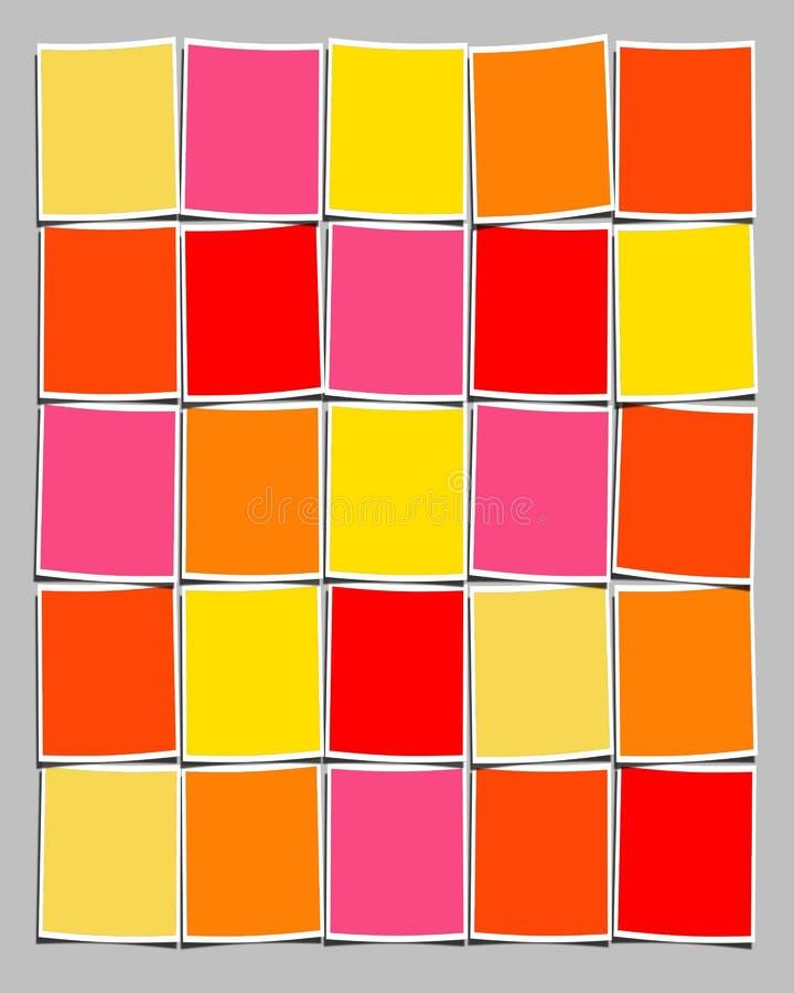 blanka färgglada polaroids royaltyfri foto