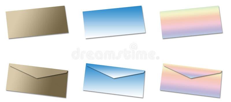 Download Blanka kuvert stock illustrationer. Illustration av bokstäver - 287835