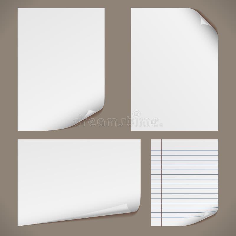 blanka papperen a4 royaltyfri illustrationer