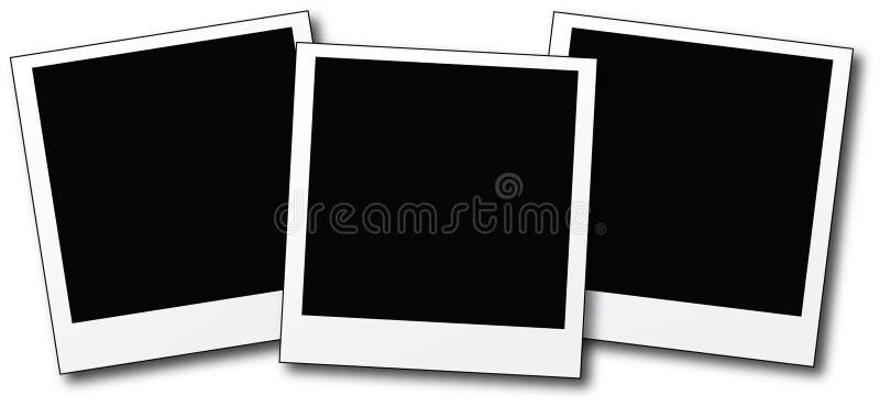 blanka polaroids royaltyfri illustrationer