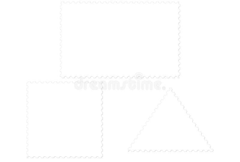 blanka portostämplar vektor illustrationer