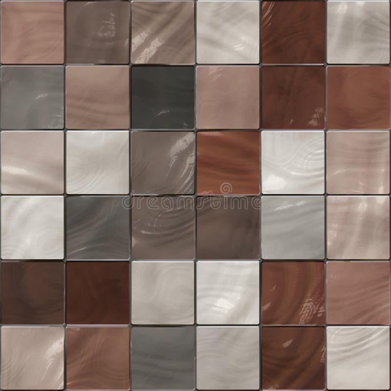blanka texturtegelplattor för bruna seamless kupor vektor illustrationer