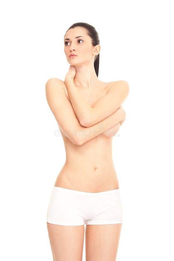 Blanke entspannende Frau stockfotos