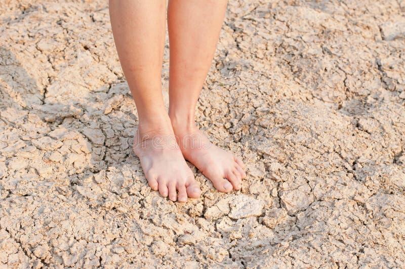 Blanke Füße stockbild