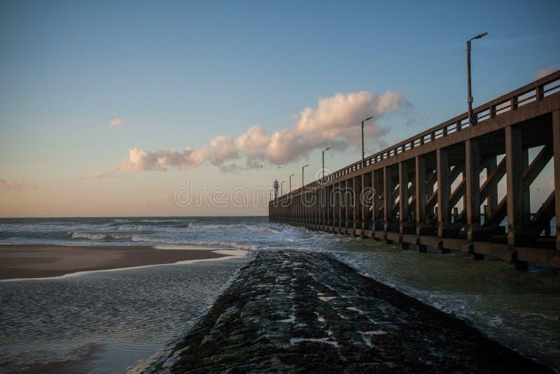 Blankenberge-Pier lizenzfreie stockfotos