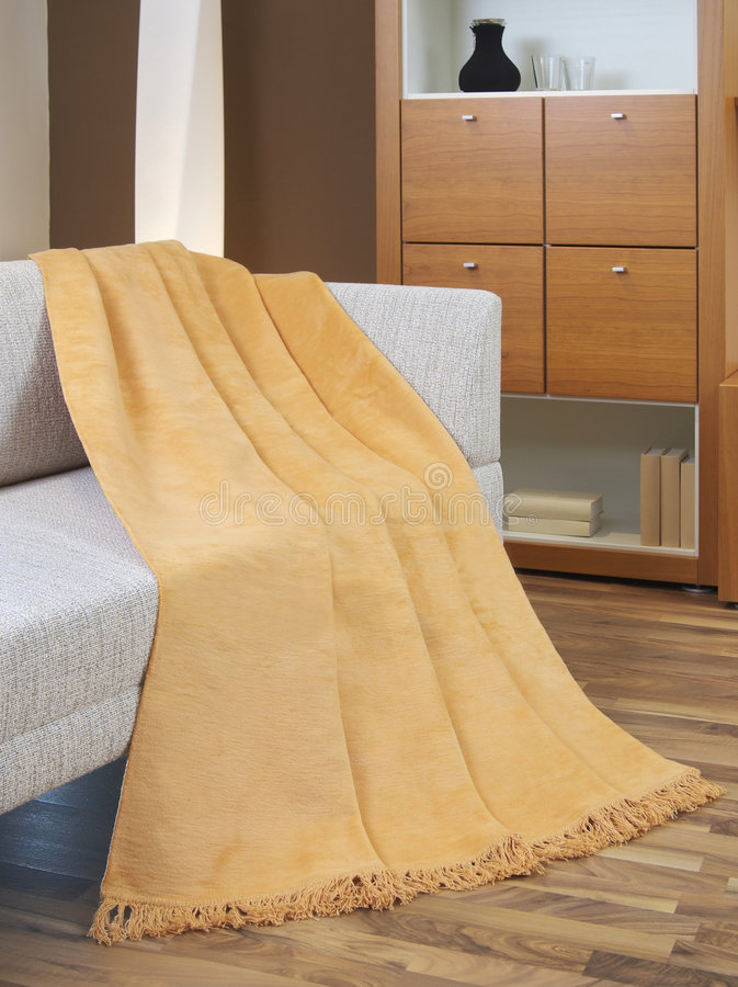 Download Blanket Draped Over A Settee Stock Image - Image: 7743921