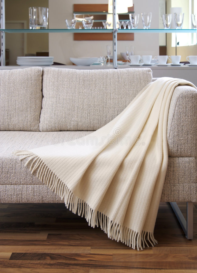 Download Blanket Draped Over A Settee Stock Image - Image: 7744961