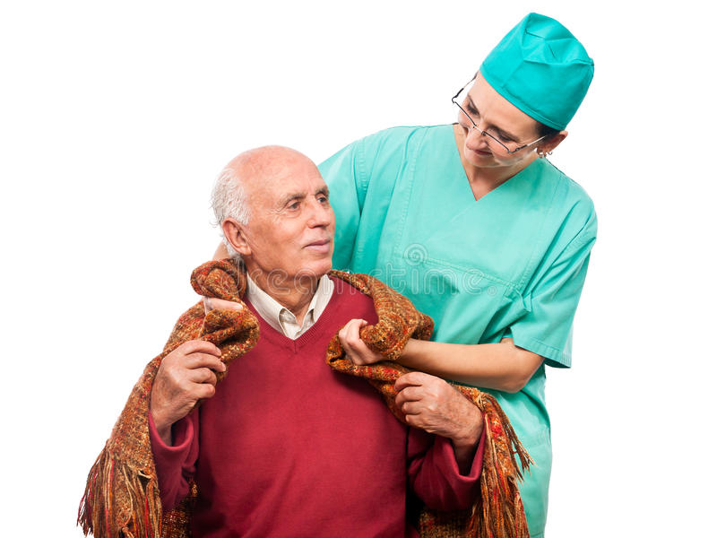 Download Blanket for an old man stock photo. Image of hospital - 21815816