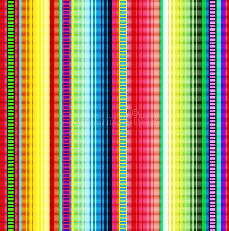 Blanket stripes vector pattern. Background for Cinco de Mayo party decor or ethnic mexican fabric pattern with colorful stripes. vector illustration
