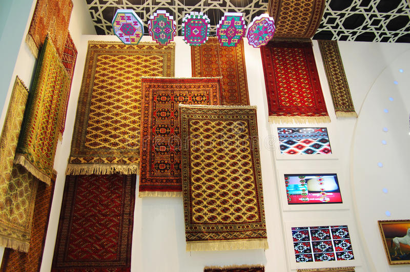 Download Blanket In Turkmenistan Pavilion Editorial Stock Photo - Image of display, construction: 17315393