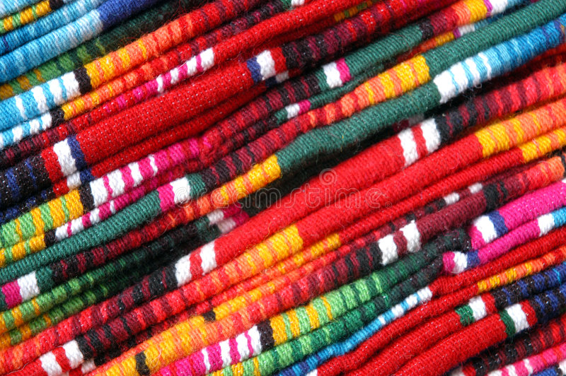 Blankets on market - Mexico stock image