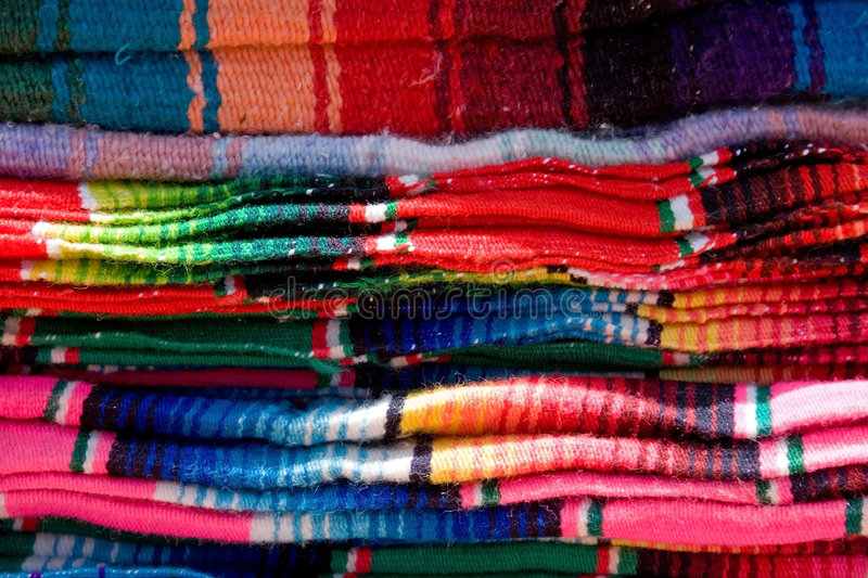 blankets mexican 图库摄影