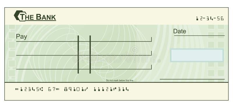 blankocheckillustration vektor illustrationer