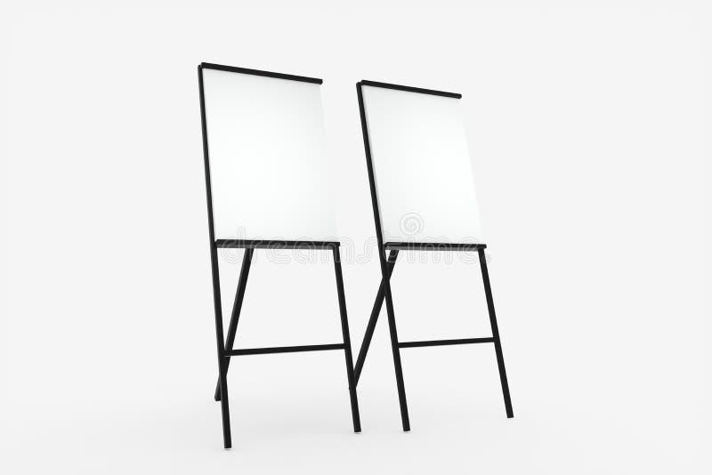 Blankoplatte mit weißem Hintergrund, 3D-Darstellung lizenzfreie abbildung