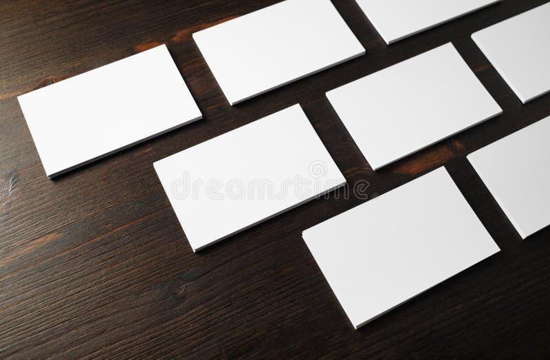 BlankoVisitenkarten lizenzfreie stockfotos