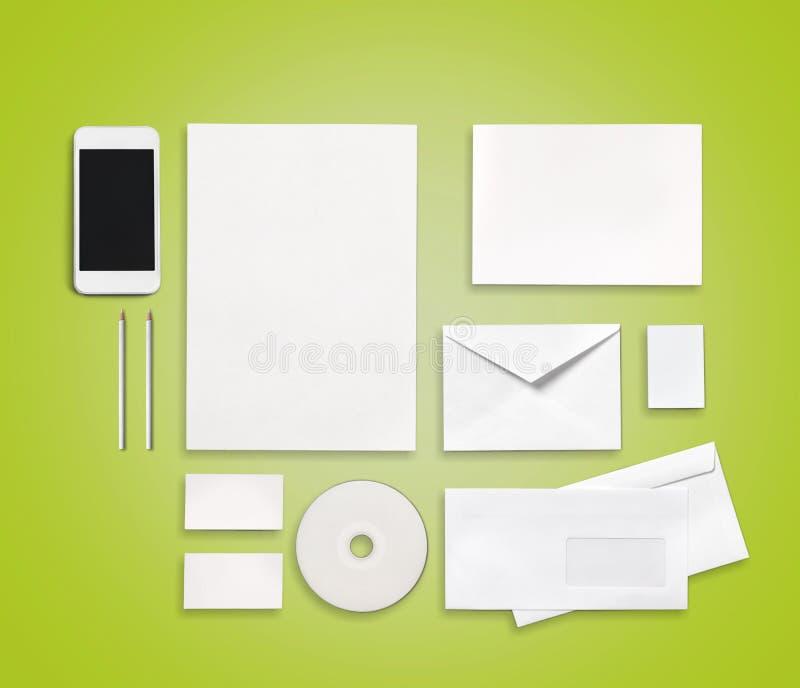 Blanks. Green photo document print nobody white royalty free stock photo