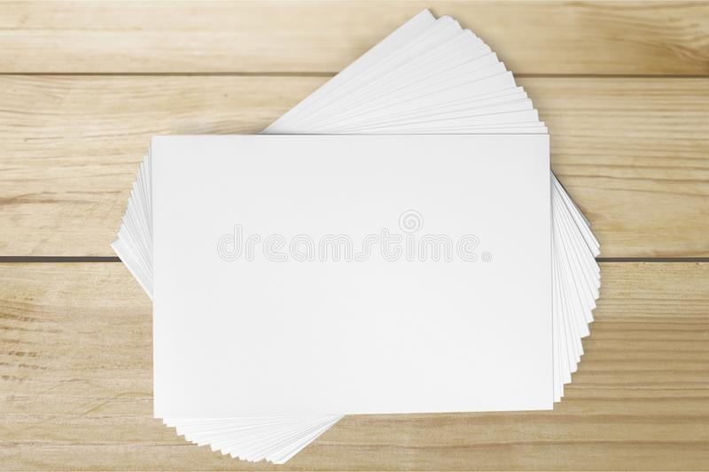 Blanks. Layout page pamphlet print pad white royalty free stock images