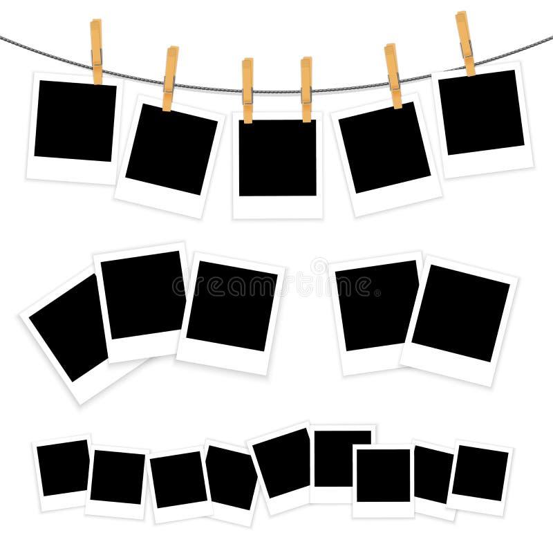 Blanks of photo on white background vector stock illustration