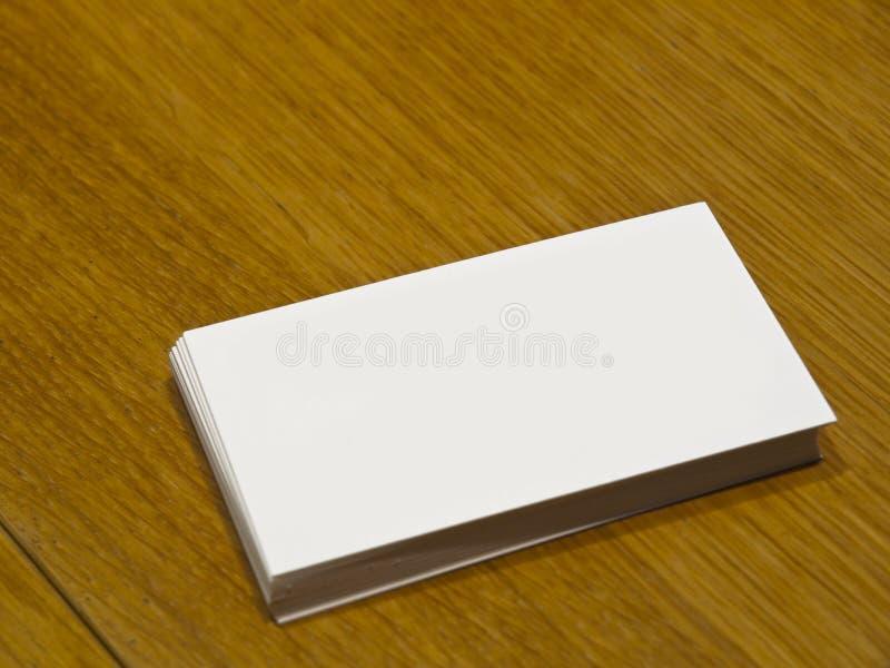 blankt affärskort arkivfoto