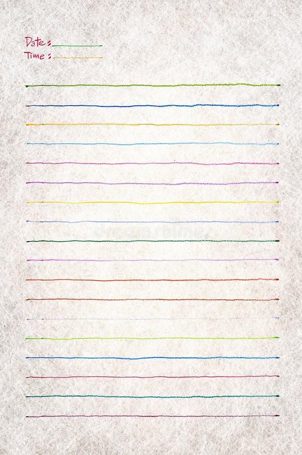 blankt anmärkningspapper arkivbild