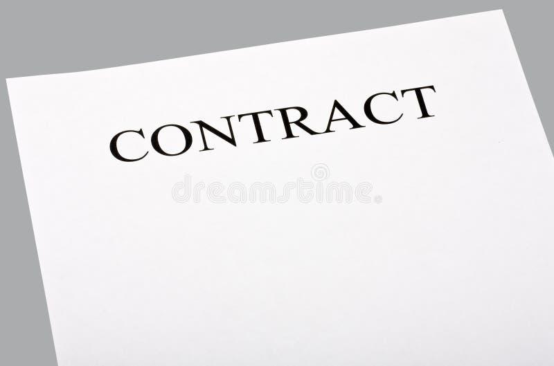 blankt avtal arkivbild