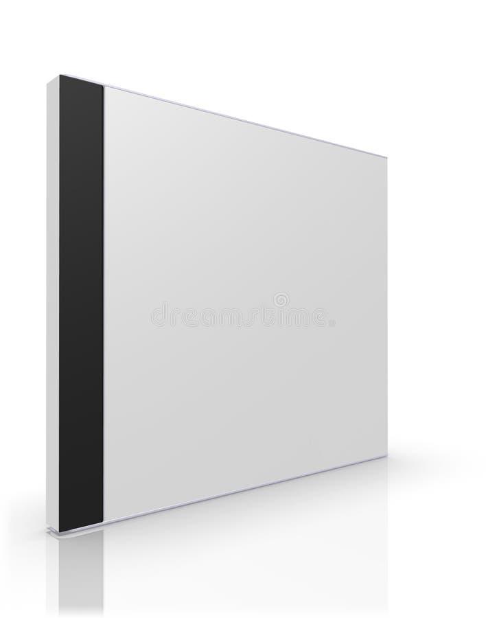Blankt CD-/DVDfall vektor illustrationer