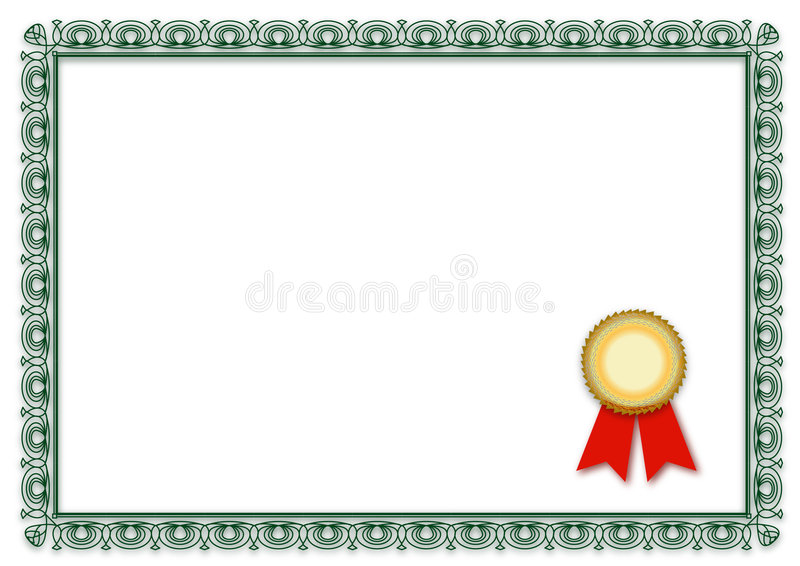 blankt certifikat stock illustrationer