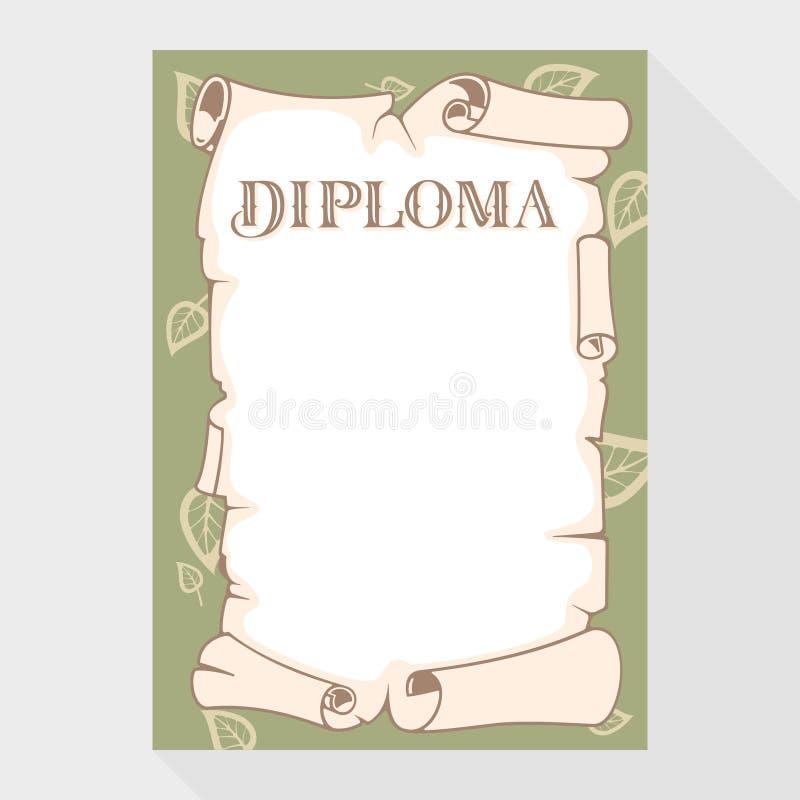 blankt diplom royaltyfri illustrationer