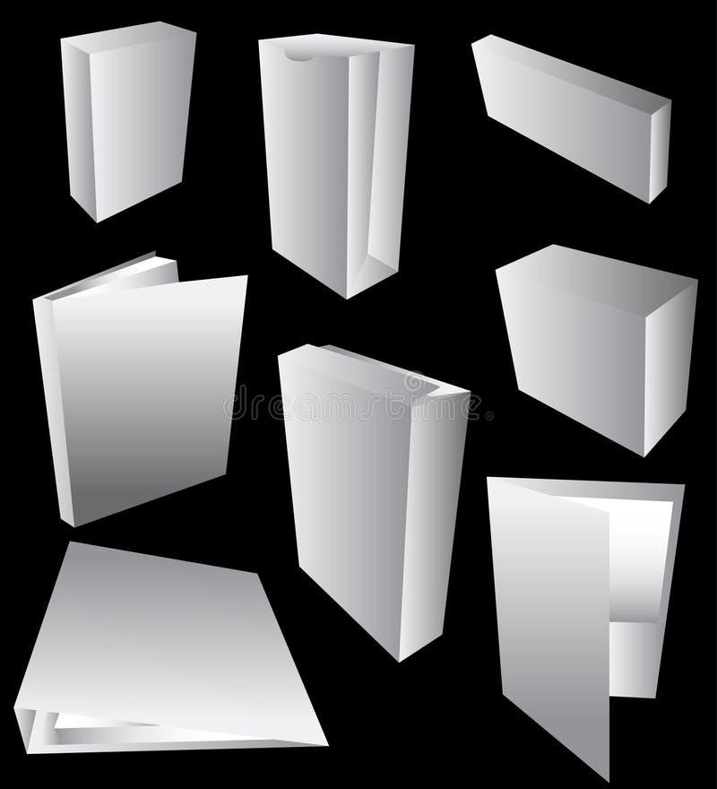 blankt emballage royaltyfri illustrationer